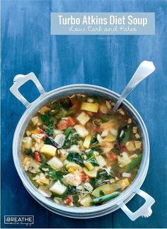 This low carb soup recipe is loaded with protein and healthy veggies for only 136 calories and 4g net carbs! It's also Paleo and Whole 30 approved!
