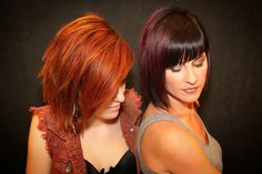 Hand painted highlights. Color done by Lindz Carmine&Co. Hair Salon. Redken copper hair pink hair
