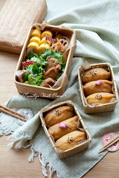 Inarizushi (Tofu Pouches Stuffed with Sushi Rice) Bento 稲荷寿司弁当