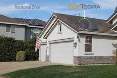 The solar roof exists: SunTegra offers solar shingles and tiles Solar Energy Panels, Solar Panels For Home, Best Solar Panels, Solar Energy System, Solar Power, Wind Power, Solar Shingles, Landscape Arquitecture, Solar Roof Tiles