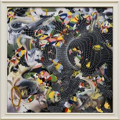 Keith Tyson - Turner Prize winner 2002 'Curves of an infinite order' Oil on aluminium Turner Prize, Tate Gallery, Tate Britain, New Artists, Contemporary Art, Slime Mould, Abstract, Infinite, Turning