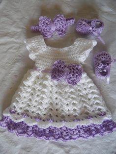 Bebé niñas vestido vestido diadema y zapatos hecho por