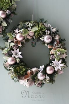 Rose Gold Christmas Decorations, Christmas Advent Wreath, Christmas Mom, Holiday Wreaths, Christmas Crafts, Diy Wreath, Pink Champagne, Shells, Ideas