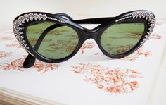 Vintage sunglasses with bling to match your Lolliclock Crystal watch?