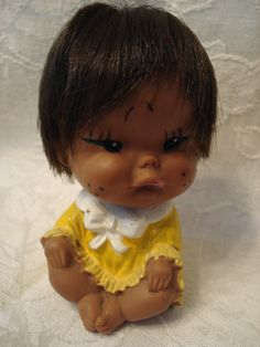 Rare Vintage Rubber Doll  Marked Japan by TheClassyGlassLassy, $14.99