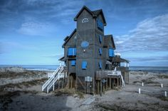 "The infamous and ultimate OBX beach cottage ""Nights in Rodanthe""  house from the movie, Rodanthe, NC. It's a vacation rental property, #R-51 by Sun Realty.."