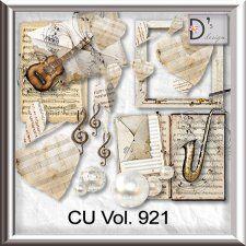 Vol. 921 - Music Mix by Doudou's Design  cudigitals.com cu commercial scrap scrapbook digital graphics#digitalscrapbooking #photoshop #digiscrap