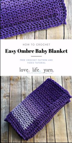 This free crochet pattern and video tutorial are amazing!  This always turns out so beautiful and is my go-to baby shower gift!  Everyone always loves this crochet baby blanket.  You have GOT to make this! #freecrochetpattern #crochetbabyblanket #crochetvideotutorial