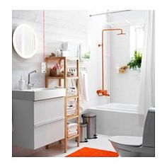 "STORJORM Mirror with integrated lighting, white - 18 1/2 "" - IKEA"