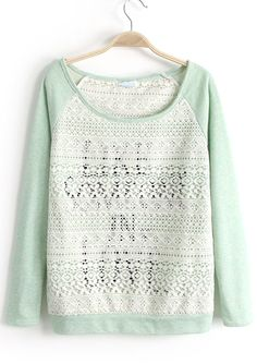 To find out about the Light Green Long Sleeve Letters Print Lace Sweatshirt at SHEIN, part of our latest Sweatshirts ready to shop online today! Sweat Shirt, Lace Sweatshirt, Lace Sweater, Diy Clothes Videos, Clothes Crafts, Tween Fashion, Love Fashion, Junior Outfits, Cute Outfits