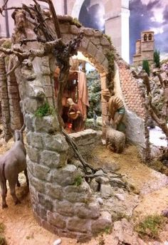 Belem, Portal, Christmas Carol, Diorama, Lion Sculpture, Nativity Scenes, Patio, Bethlehem, Statue