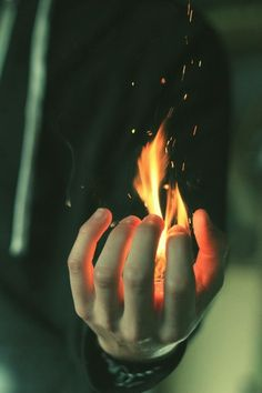 holding flames