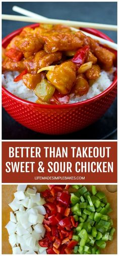There's no need to order out! This better than takeout sweet and sour chicken is ready to go in a little over an hour! #sweetandsourchicken #betterthantakeoutsweetandsourchicken #homemadechinesetakeout #chinesetakeout #homemadesweetandsourchicken Sweet Sour Chicken, Orange Chicken, My Favorite Food, Favorite Recipes, Chicken Life, Sweet Breakfast, Make Ahead Lunches, Brunch Recipes, Main Dishes