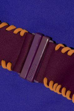 Eres - Pepita Belted Bandeau Swimsuit - Royal blue - FR38