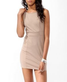 Ponte Knit Sheath Dress (Taupe). Forever 21. $13.50