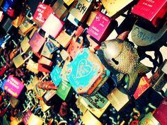 Liebesschlösser an Kölner Hohenzollernbrücke #Köln #Liebe #Liebende