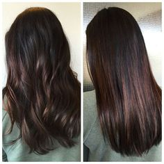 Image result for balayage long straight dark hair