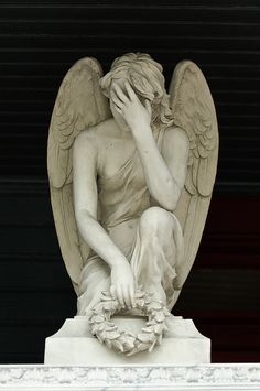 .☫ Angelic ☫ winged cemetery angels and zen statuary -