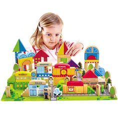 Your child will love engaging with the different characters and pieces Create your own unique cityscape with wood building blocks, characters, and interactive pieces Encourages dexterity, creativity, and active playtime ...   toys4mykids.com