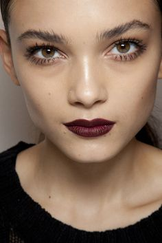 Burgundy lips - love this for fall..but hard to pull off
