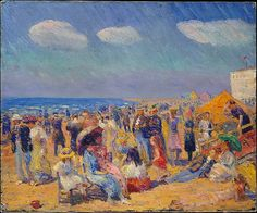 William James Glackens (American, 1870–1938). Crowd at the Seashore, ca. 1910. The Metropolitan Museum of Art, New York. Bequest of Miss Adelaide Milton de Groot (1876–1967), 1967 (67.187.126)