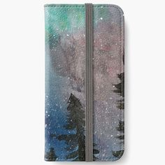 Iphone Wallet Case, Iphone Cases, Aurora Snow, Winter Landscape, New Iphone, Winter Time, Screen Protector, Samsung Cases, Snowflakes