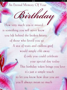An eternal memory of your birthday..s..happy 59th birthday mama.. You'RE still very much in our thoughts and our hearts..we miss you always and love you..ummwwahh.