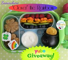 Biting The Hand That Feeds You: Somewhere Clover the Rainbow Bento - and Green With Envy yubo Giveaway