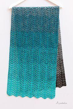 Light chevron stitch scarf, Free Pattern, Anabelia Craft Design