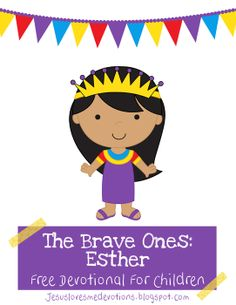 """""""""""As much as my daughter loves Frozen, I want her to learn and hear about real-life princesses and queens that were brave, strong and selfless. The Bible has the ultimate queen heroine. Queen Esther. She loved her people, the Jews, so much so that she potentially sacrificed her life for them. """" FREE DEVOTIONAL FOR CHILDREN Jesuslovesmedevotions.blogspot.com"""