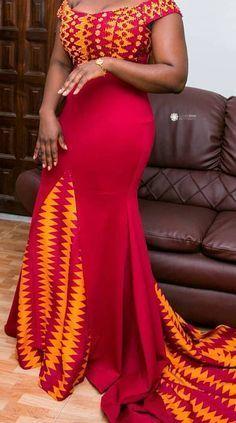 Kente gown African fashion, Ankara, Kitenge, African women dresses, African prints for w. African Dresses For Women, African Print Dresses, African Attire, African Wear, African Fashion Dresses, African Women, African Prints, African Fashion Designers, African Print Fashion