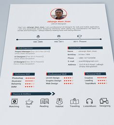 Beautiful  Free Resume Templates For Designers