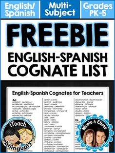 I find teaching cognates (words that look and sound similar and Spanish and English) early in the year helps students to feel more comfortable in my Spanish class. Here is a great FREE list of common cognates. See how many Spanish words you already know. MOD.COD.NL.1.2 2. Exchange information using cognates and loan words from the target culture in conversations about other disciplines.