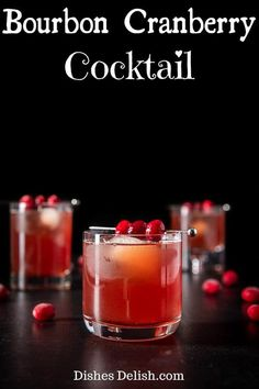 The blend of ingredients in this bourbon cranberry cocktail makes for a scrumptious and fun drink! The tartness of the cranberry juice perfectly balances the bourbon simple syrup and ginger beer. Pure Cranberry Juice, Cranberry Cocktail, Sour Cocktail, Cocktail Making, Sweet Cocktails, Fun Drinks, Yummy Drinks, Cocktail Recipes