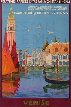 Venice • Italy 1921 _________________________ #Vintage #Travel #Poster