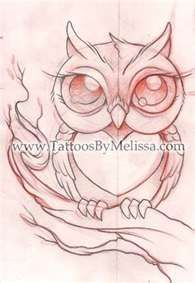 Owl Drawing and Cute Critter Tattoos | Tattoos By Melissa