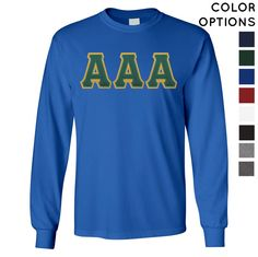 Pick Your Colors Sewn On Letter Long Sleeve Tee