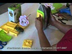 ▶ Moldes de flores en foamy - YouTube