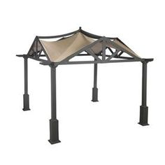 Garden Winds Riplock 350 1 Beige Canopy Replacement Top at Lowe's. This is a replacement canopy for the garden treasures and gazebo. Garden Winds rip lock 350 canopy with ultra stitch and durable Garden Canopy, Pergola Canopy, Metal Pergola, Deck With Pergola, Cheap Pergola, Backyard Pergola, Pergola Plans, Pergola Kits, Pergola Ideas