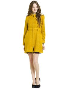 Nanette Lepore 'Lord & Lady' Yellow Coat