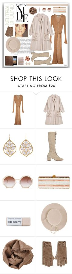 """Neutral Ground"" by jjanewatson ❤ liked on Polyvore featuring Balmain, Maryam Nassir Zadeh, Shaina Mote, Jamie Wolf, Samantha Pleet, Fendi, Edie Parker, Brunello Cucinelli and Creatures of Comfort"
