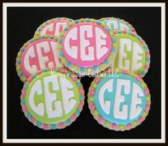 monogrammed birthday cakes - Google Search