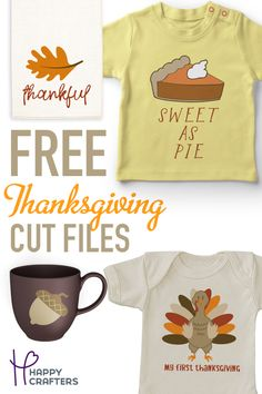 Download these free Thanksgiving SVG Cut Files to use in your Silhouette Cameo, Cricut, or Scan N Cut. Combine them with HTV and Adhesive Vinyl for some super cute fall projects. Silhouette Curio, Silhouette Vinyl, Silhouette Images, Silhouette Cameo Projects, Silhouette Design, Vinyl Projects, Fall Projects, Cricut Creations, Vinyl Designs