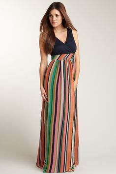 Phoebe Couture  Stripe Skirt Maxi Dress - @Hautelook