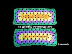 A lezione di granny: la granny rettangolare (rectangular granny square) - YouTube