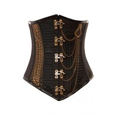 8eade3878f Black Jacquard Stripe Underbust Corset - I love the chain detailing! On  sale for  156