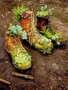 35 ιδέες για παπούτσια - γλαστράκια!