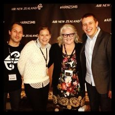 The Air NZ Social Media Team at the #AIRNZSMB