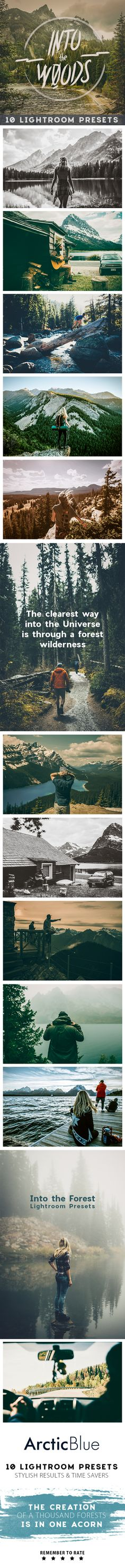 Into the Woods  10 Lightroom Presets — LRTemplate #woods #tree • Available here → https://graphicriver.net/item/into-the-woods-10-lightroom-presets/13298012?ref=pxcr