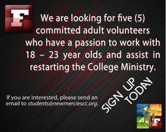 To help & volunteer email us at students@newmerciescc.org.